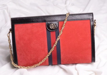 Gucci Ophidia Embroidered Medium Shoulder Bag 503876 Red