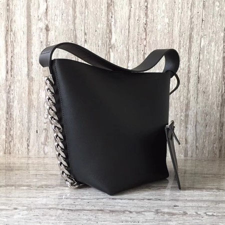 Givenchy Saddle Bag Calfskin Leather G06634 Black