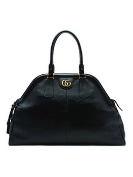 Gucci Calfskin Leather Top Handle Bag 501015 Black