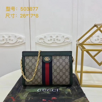 Gucci Ophidia GG Small Shoulder Bag 503877 Green