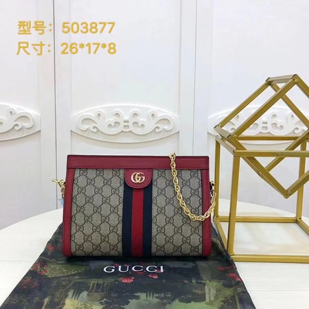 Gucci Ophidia GG Small Shoulder Bag 503877 Red