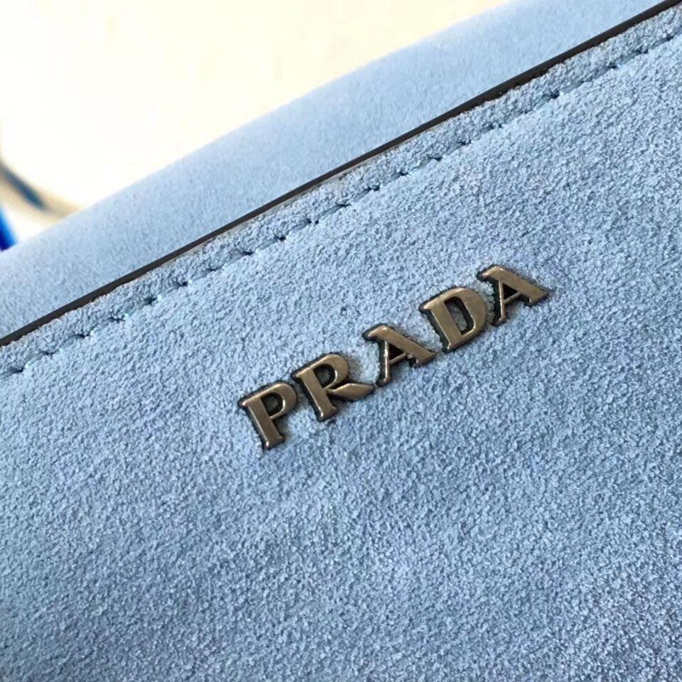 Prada Cahier Leather Shoulder Bag 1BD095 White