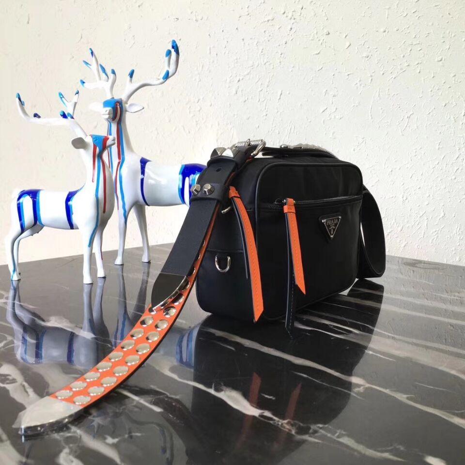Prada Technical Fabric Bag 1BC167 Orange
