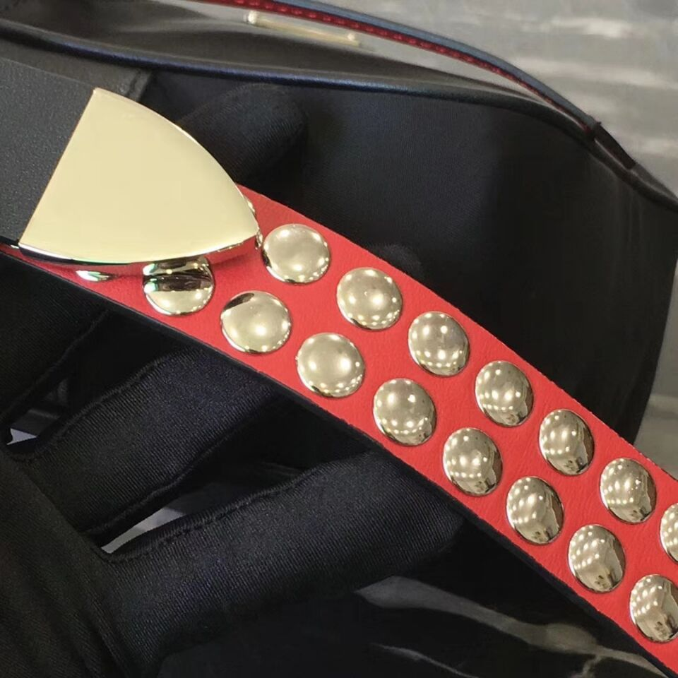 Prada Technical Fabric Bag 1BC167 Red