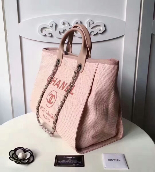 Chanel Medium Original Canvas Leather Tote Shopping Bag 66941D