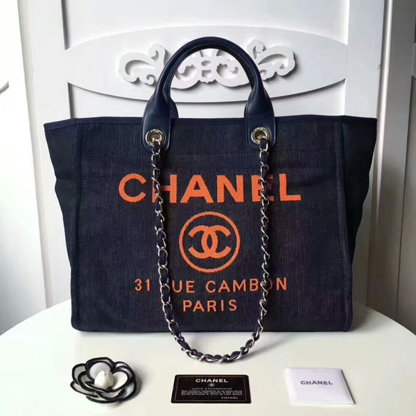 Chanel Medium Original Canvas Leather Tote Shopping Bag 66941F