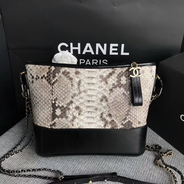 Chanel Gabrielle Shoulder Bag Original Python Leather A93842 White