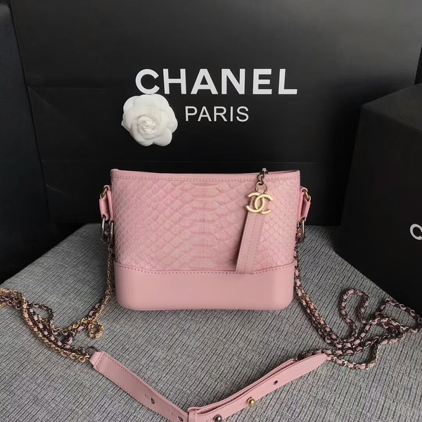 Chanel Gabrielle Mini Shoulder Bag Original Python Leather 8122A Pink