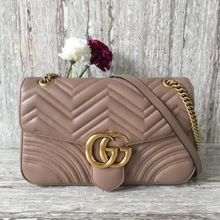 Gucci GG Marmont Large Shoulder Bag 443496 Apricot