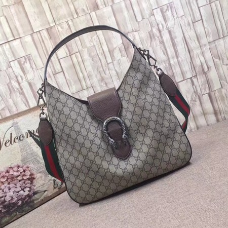 Gucci Dionysus Medium GG Hobo Bag 446687 Brown