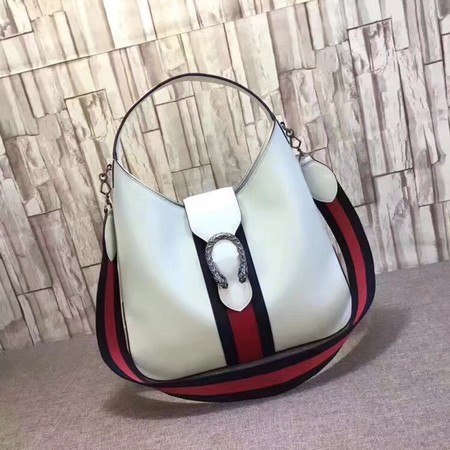 Gucci Dionysus Medium Leather Hobo Bag 446687 White