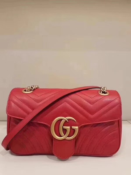Gucci GG Marmont matelasse Mini Bag 446744 Red