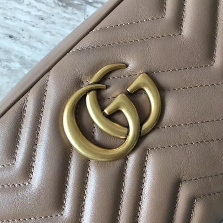 Gucci GG Marmont Small Matelasse Shoulder Bag 447632 Apricot