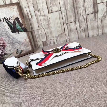 Gucci Broadway Leather Clutch 453777 White