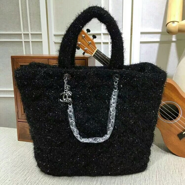 Chanel Suede Leather Tote Bag 92111 Black
