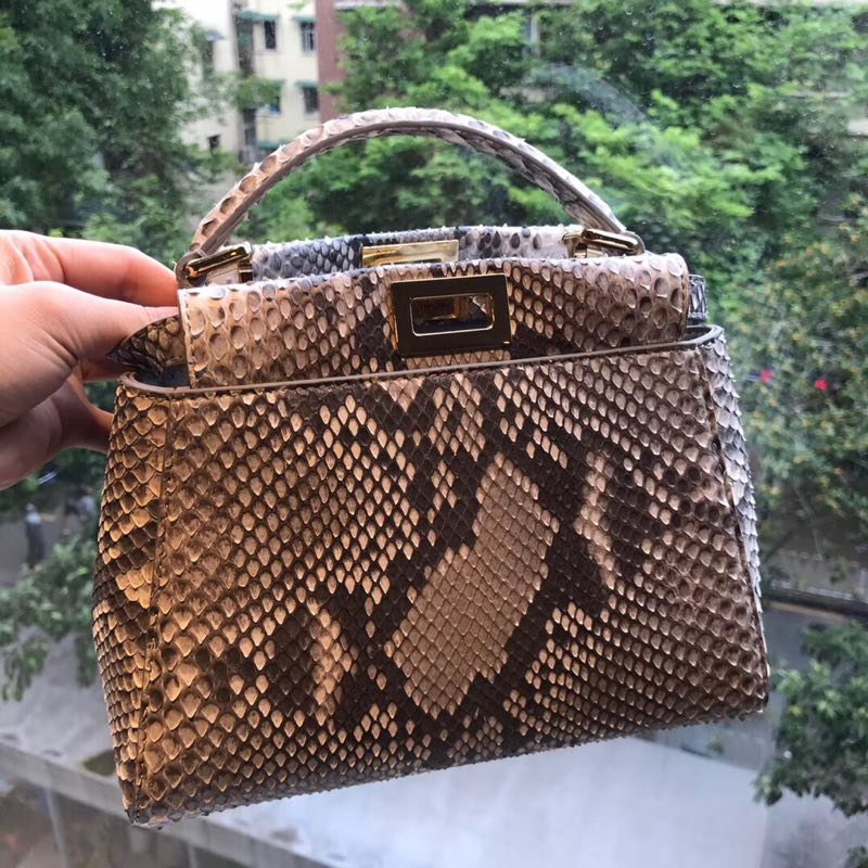 Fendi Python Leather Tote Bag 9912