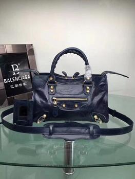 Balenciaga Giant City Gold Studs Handbag 084333 Blue