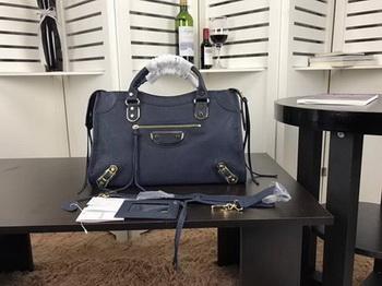 Balenciaga Giant City Gold Studs Handbag B084334 Blue