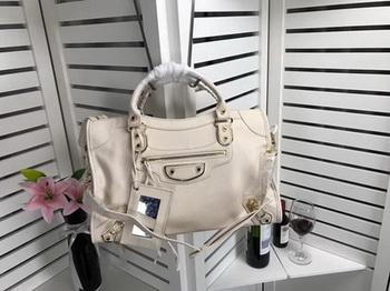 Balenciaga Giant City Gold Studs Handbag B084334 OffWhite