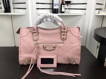 Balenciaga Giant City Gold Studs Handbag B084334 Pink