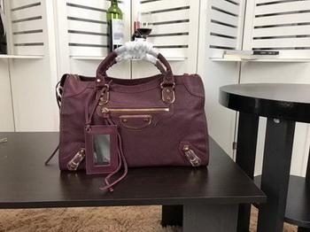 Balenciaga Giant City Gold Studs Handbag B084334 Wine