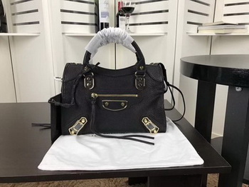 Balenciaga Giant City Gold Studs Handbag B084335 Black