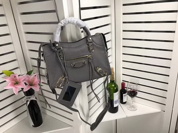 Balenciaga Giant City Gold Studs Handbag B084335 Grey