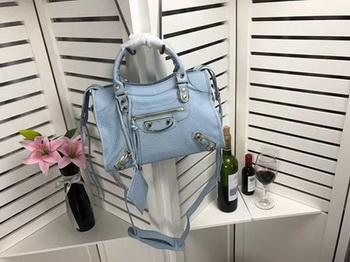 Balenciaga Giant City Gold Studs Handbag B084335 Light Blue