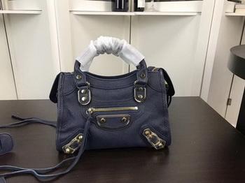 Balenciaga Giant City Gold Studs Handbag B084336 Blue