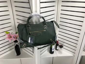 Balenciaga Giant City Gold Studs Handbag B084336 Green
