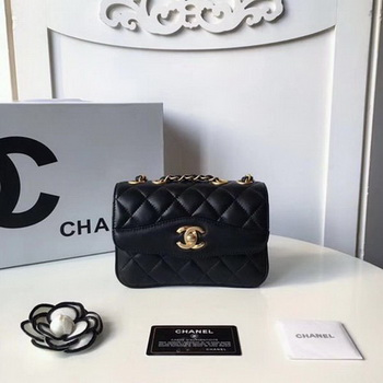 Chanel Classic Shoulder Bag Original Sheepskin Leather A57029 Black