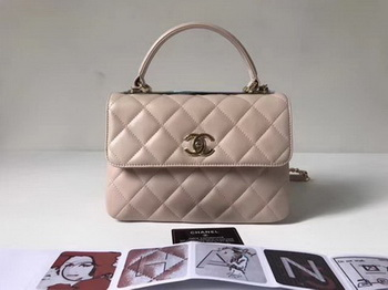 Chanel Classic Top Handle Bag Sheepskin Leather CHA2371 OffWhite