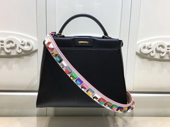 Fendi Peekaboo Small Bag Calfskin Leather FD26796 Black
