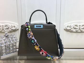 Fendi Peekaboo Small Bag Calfskin Leather FD26796 Khaki