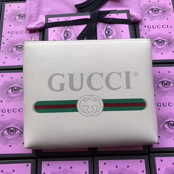 Gucci Print Leather Medium Portfolio ‎500981 OffWhite