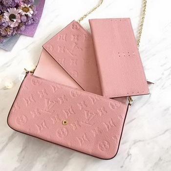 Louis Vuitton Monogram Empreinte POCHETTE FeLICIE M64064 Pink