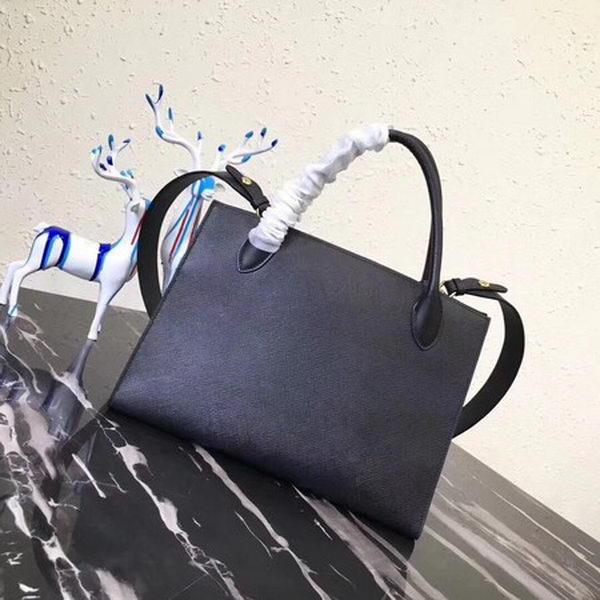 Prada Bibliotheque Handbag in Calf Leather 1BA155 Black
