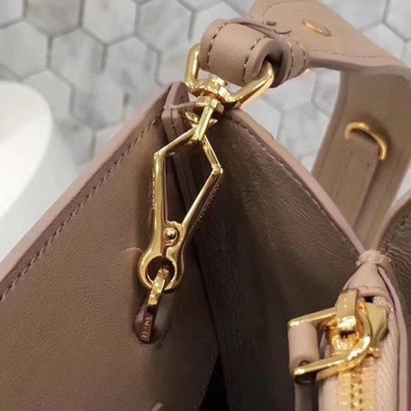 Prada Bibliotheque Medium Saffiano Top-Handle Tote Bag 1BG088 Apricot