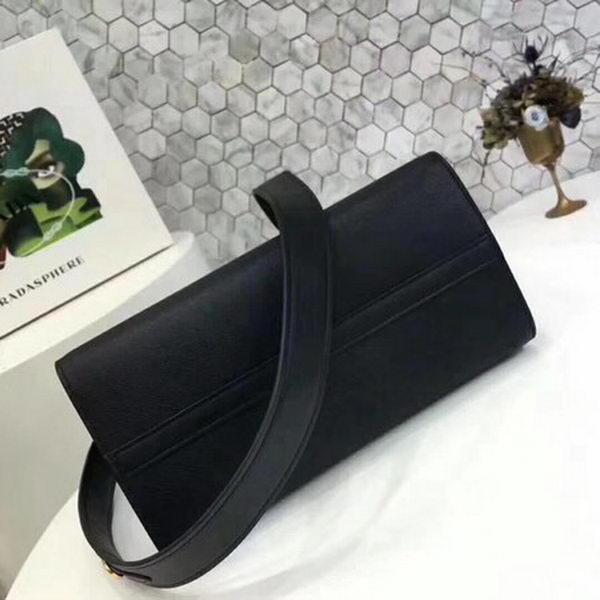 Prada Bibliotheque Medium Saffiano Top-Handle Tote Bag 1BG088 Black