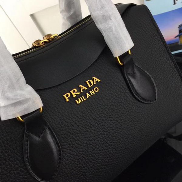 Prada Calfskin Leather Tote Bag 1BH093 Black