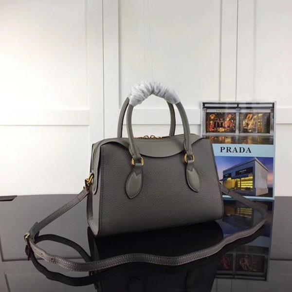 Prada Calfskin Leather Tote Bag 1BH093 Grey