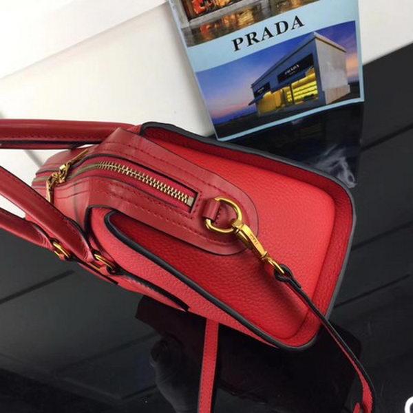 Prada Calfskin Leather Tote Bag 1BH093 Red
