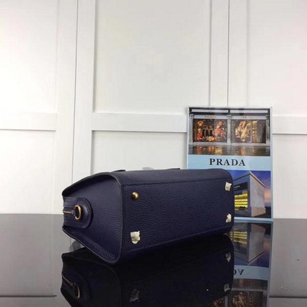 Prada Calfskin Leather Tote Bag 1BH093 Royal