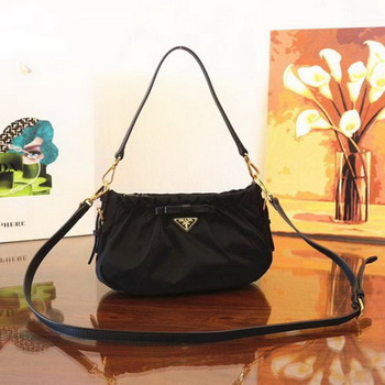 Prada Nylon Shoulder Bag BN2043 Black