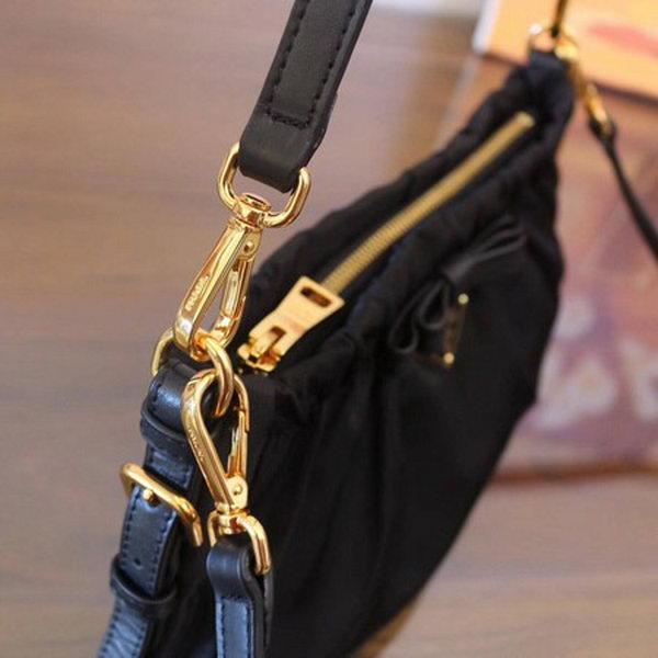 Prada Nylon Shoulder Bag BN2043 Black