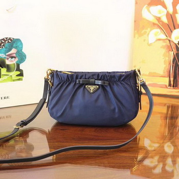 Prada Nylon Shoulder Bag BN2043 Blue