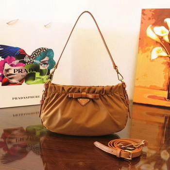 Prada Nylon Shoulder Bag BN2043 Brown