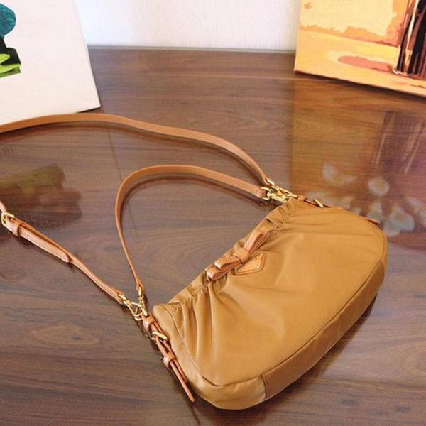 Prada Nylon Shoulder Bag BN2043 Brown