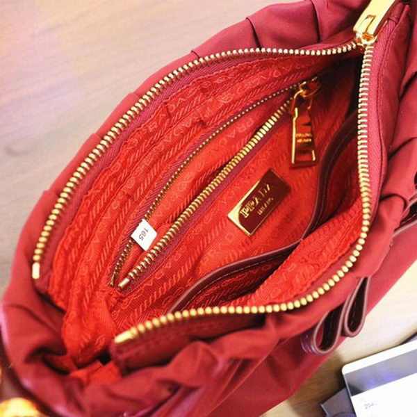 Prada Nylon Shoulder Bag BN2043 Red