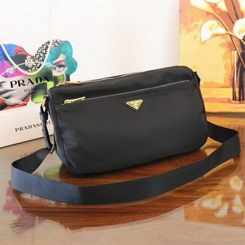 Prada Nylon Shoulder Bag BT0742 Black